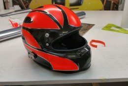 Custom crash helmet